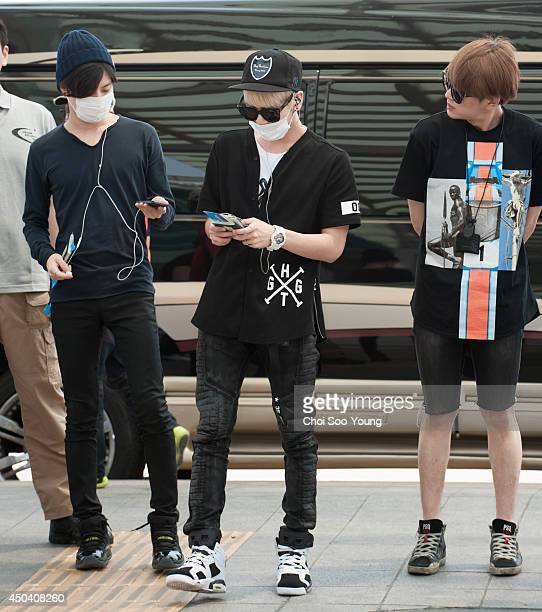 SHINee are seen at Incheon International Airport on May 31 2014 in Incheon South Korea