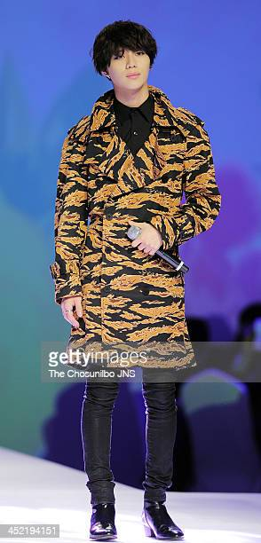 SHINee perform during the MCM 2014 S/S Collection at Lotte Hotel on November 26 2013 in Seoul South Korea