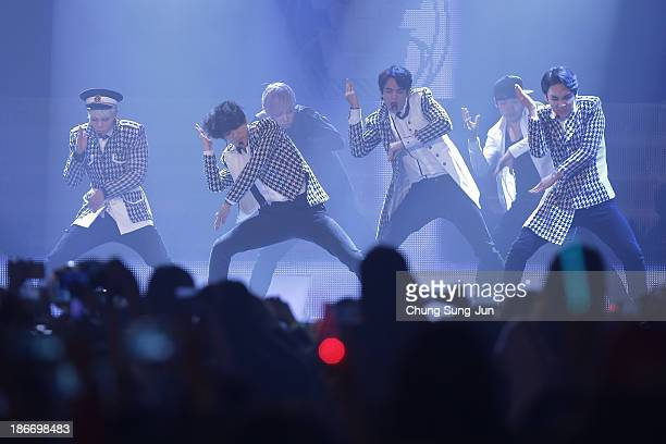 SHINee perform on stage during Youtube Music Awards 2013 at Kintex Hall on November 3 2013 in Seoul South Korea