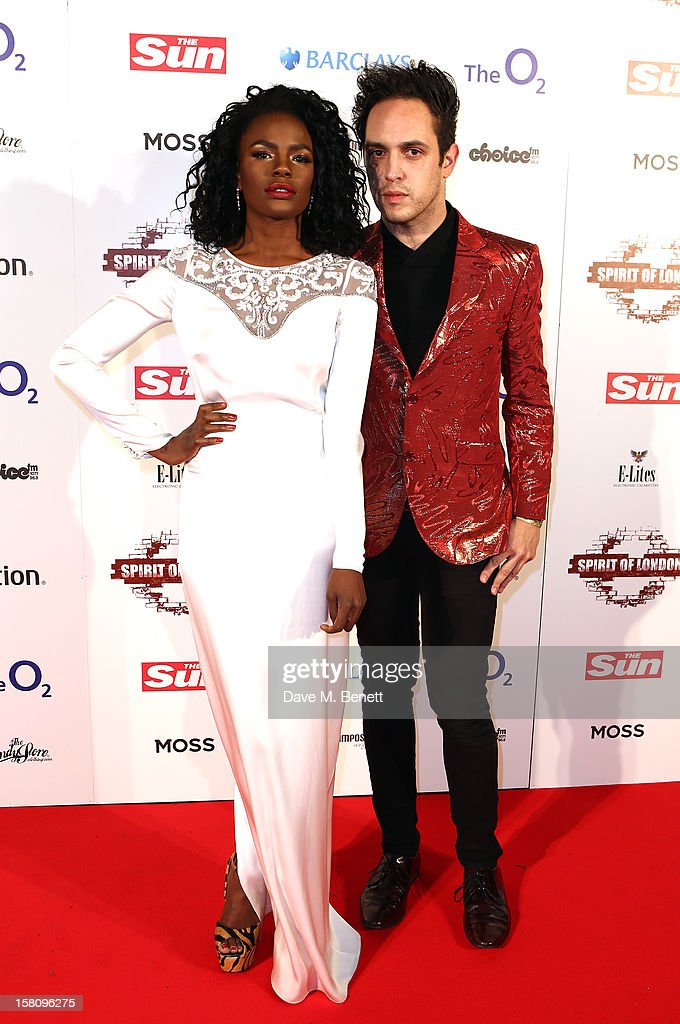 Shingai Shoniwa and Dan Smith attends the Spirit Of London Awards in association with PlayStation at the O2 Arena on December 10, 2012 in London, England.