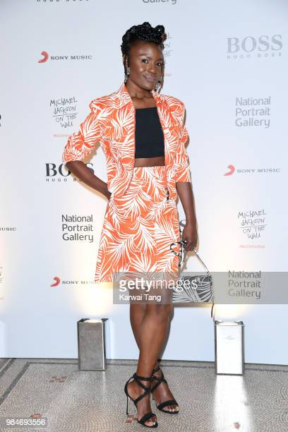 Shingai Shoniwa attends the 'Michael Jackson On The Wall' Private View sponsored by HUGO BOSS at the at National Portrait Gallery on June 26 2018 in...