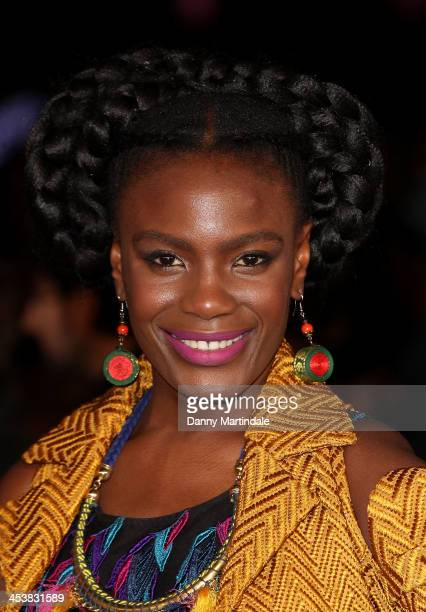 """Shingai Shoniwa attends the Royal film performance of """"Mandela: Long Walk To Freedom"""" at Odeon Leicester Square on December 5, 2013 in London, United..."""