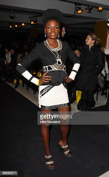 Shingai Shoniwa of The Noisettes attends the Anglomania show by Vivienne Westwood at Selfridges on November 16 2009 in London England