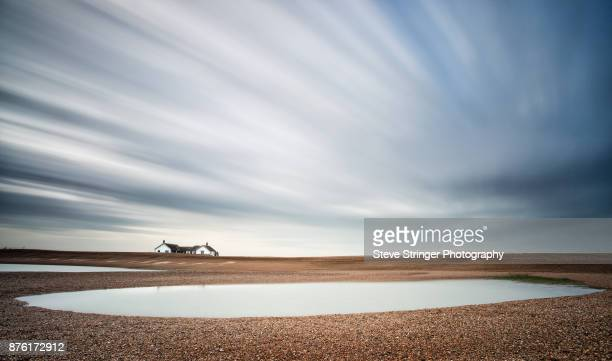 shingle street beach, suffolk - suffolk england stock photos and pictures