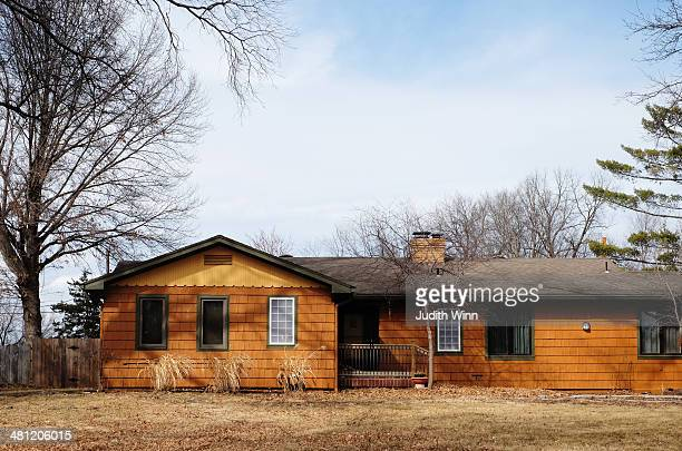 Shingled Ranch House in the Suburbs