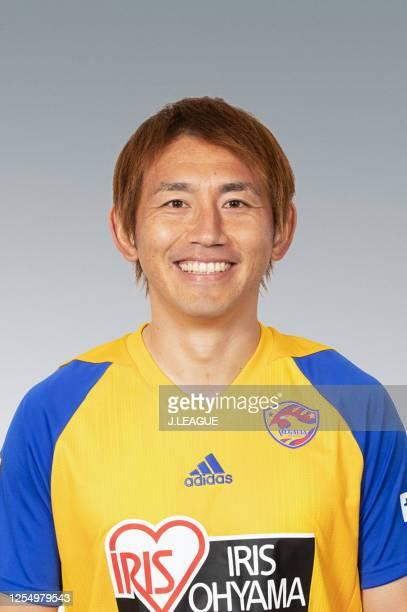 Shingo Hyodo poses for photographs during the Vegalta Sendai portrait session on January 15, 2020 in Japan.
