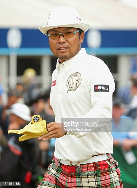 Shingo Katayama of Japan looks on from the 1st hole during the final round of the 142nd Open Championship at Muirfield on July 21 2013 in Gullane...