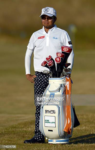 Shingo Katayama of Japan on the 15th hole during the second round of the 142nd Open Championship at Muirfield on July 19, 2013 in Gullane, Scotland.