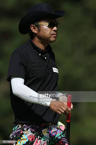 Shingo Katayama of Japan walks to the fourth green during day four of the Panasonic Japan Open at Ibaraki Golf Club on September 29, 2013 in Ibaraki,...