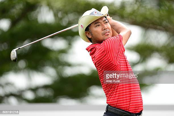 Shingo Katayama of Team Asia pictured during the day two of the EurAsia 2016 presented by DRB-HICOM at Glenmarie G&CC on January 16, 2016 in Kuala...