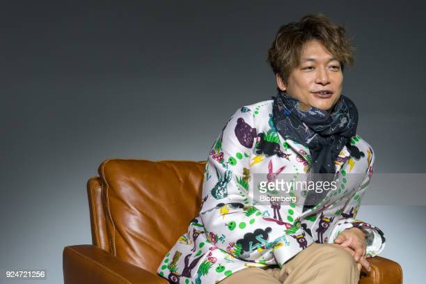 Shingo Katori a singer actor and televison host speaks during an interview in Tokyo Japan on Jan 15 2018 Katori as a member of SMAP one of Japan's...