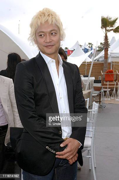 Shingo Katori during 2006 Cannes Film Festival Fuji Television Party at Majestic Beach in Cannes France