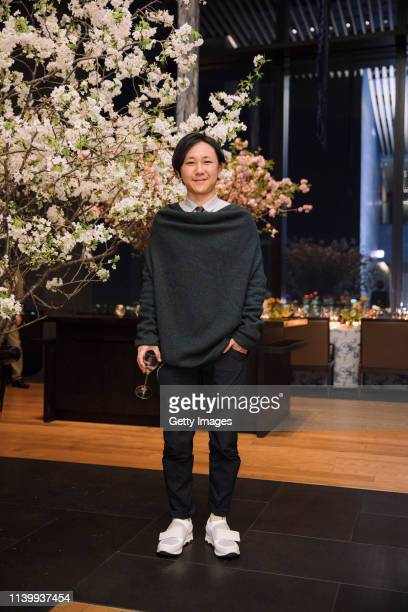 Shingo Masuda attends the Tory Burch Ginza Boutique Opening After Party on April 02 2019 in Tokyo Japan