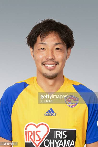 Shingo Tomita poses for photographs during the Vegalta Sendai portrait session on January 15, 2020 in Japan.