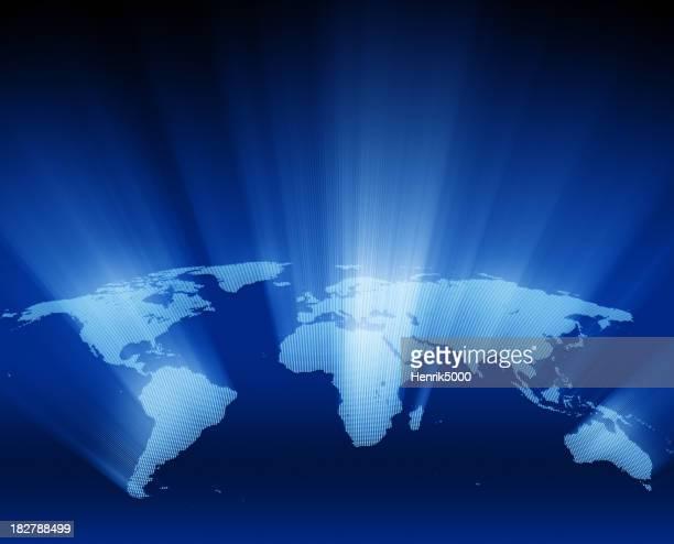Glitzernde world Karte