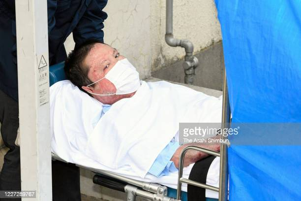 Shinji Aoba, the suspect of Kyoto Animation studio's arson attack, is stretched to the Fushimi Police Station on May 27, 2020 in Kyoto, Japan. Aoba,...