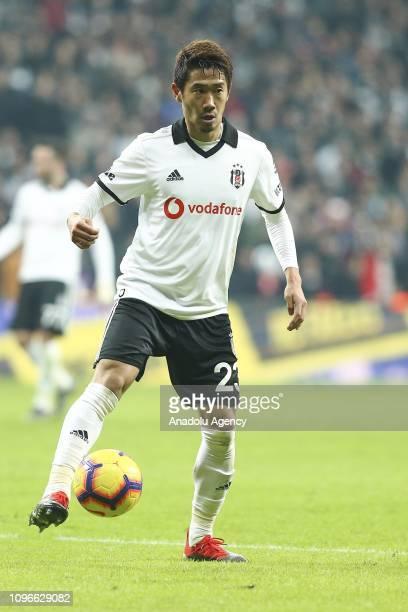 Shinji Kagawa of Besiktas in action during Turkish Super Lig match between Besiktas and Bursaspor at the Vodafone Park in Istanbul, Turkey on...