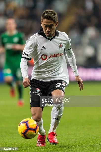 Shinji Kagawa of Besiktas JK during the Turkish Spor Toto Super Lig football match between Besiktas JK and Atiker Konyaspor on March 10, 2019 at the...