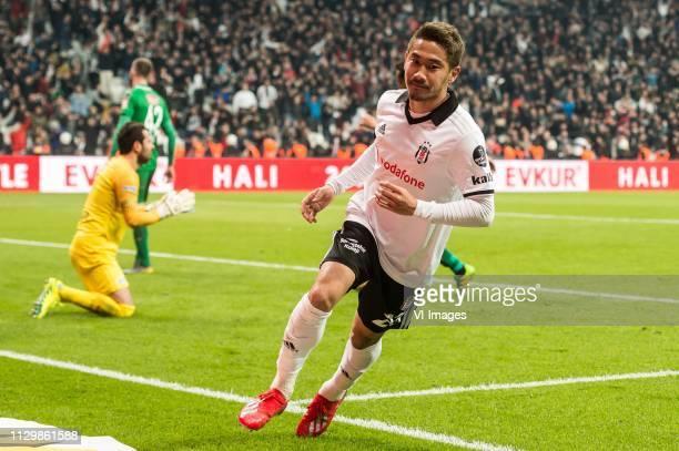 Shinji Kagawa of Besiktas JK during the Turkish Spor Toto Super Lig football match between Besiktas JK and Atiker Konyaspor on March 10 2019 at the...