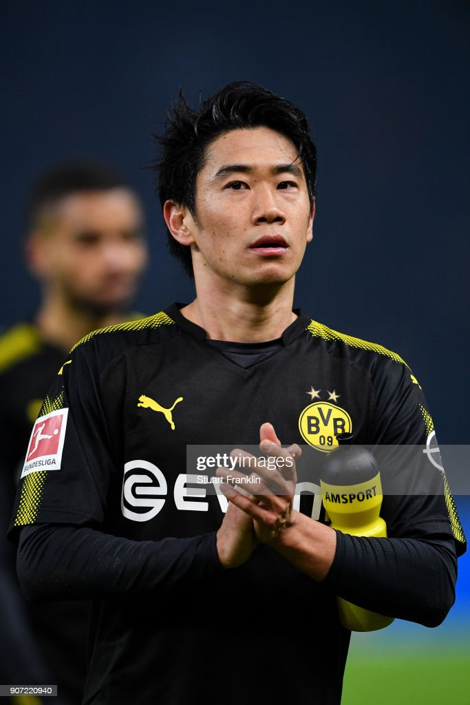 Shinji Kagawa #23 of Borussia Dortmund after the Bundesliga match between Hertha BSC and Borussia Dortmund at Olympiastadion on January 19, 2018 in Berlin, Germany.