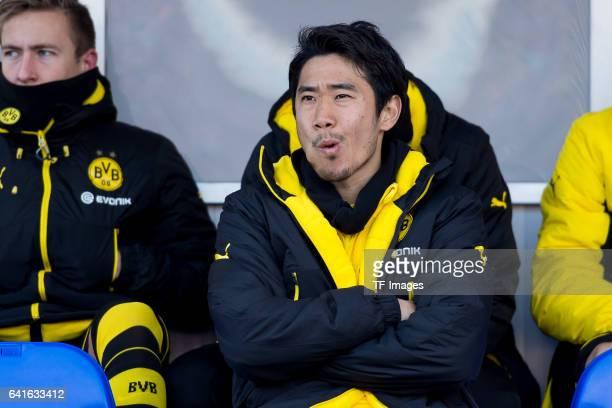 Shinji Kagawa of Borussia Dortmund auf der Bank looks on during the Bundesliga match between SV Darmstadt 98 and Borussia Dortmund at Jonathan Heimes...