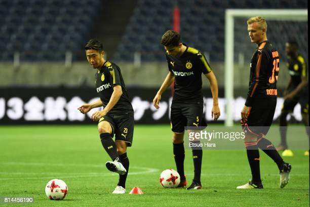 Shinji Kagawa of Borussia Dortmund during a training session ahead of the friendly match against Urawa Red Diamonds at Saitama Stadium on July 14...