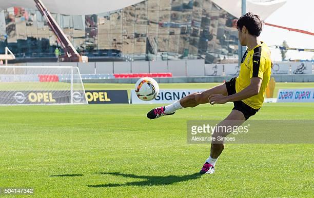 Shinji Kagawa of Borussia Dortmund during a training session of the Borussia Dortmund training camp at Dubai Nad Al Sheba Sports Complex on January 9...