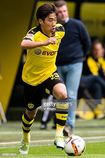 Shinji Kagawa of Borussia Dortmund during the Bundesliga match between Borussia Dortmund and VfL Wolfsburg on April 30 2016 at the Signal Idun Park...