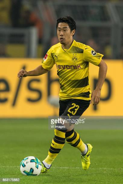 Shinji Kagawa of Borussia Dortmund during the Bundesliga match between Borussia Dortmund and Borussia Mönchengladbach on September 23 2017 at the...
