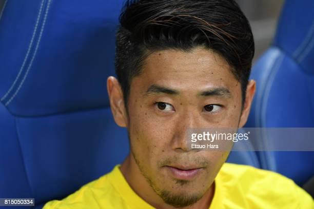 Shinji Kagawa of Borussia Dortmund looks on prior to the preseason friendly match between Urawa Red Diamonds and Borussia Dortmund at Saitama Stadium...