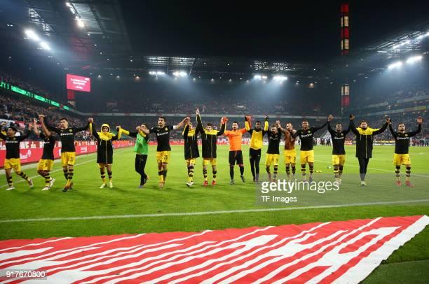 Shinji Kagawa of Dortmund Raphael Guerreiro of Dortmund Julian Weigl of Dortmund Mahmoud Dahoud of Dortmund Nuri Sahin of Dortmund Sokratis...