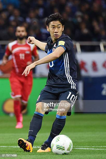 Shinji Kagawa of Japan in action during the FIFA World Cup Russia Asian Qualifier second round match between Japan and Syria at the Saitama Stadium...
