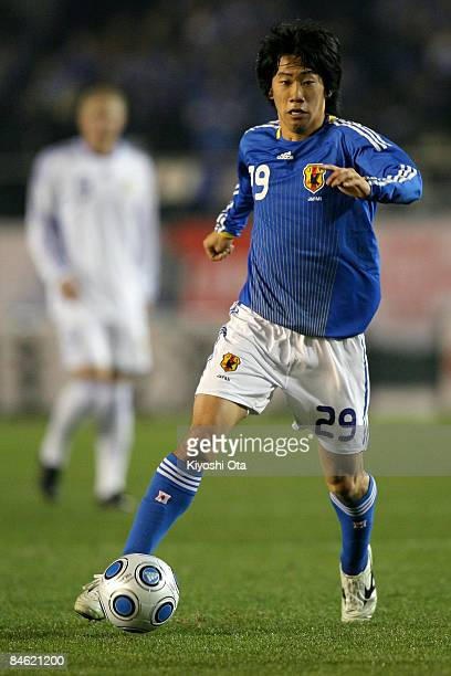 Shinji Kagawa of Japan in action during the Kirin Challenge Cup 2009 match between Japan and Finland at the National Stadium on February 4, 2009 in...