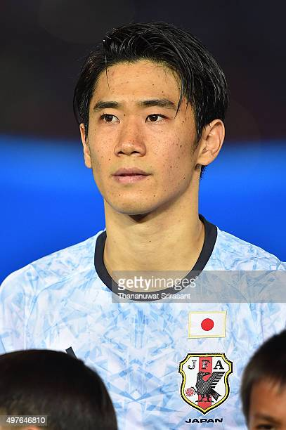 Shinji Kagawa of Japan poses during the 2018 FIFA World Cup Qualifier match between Cambodia and Japan on November 17 2015 in Phnom Penh Cambodia