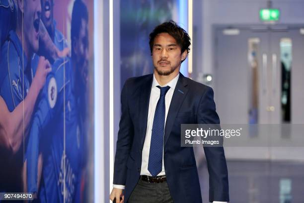 Shinji Okazaki ahead of the Premier League match between Leicester City and Watford at King Power Stadium on January 20th 2018 in Leicester United...