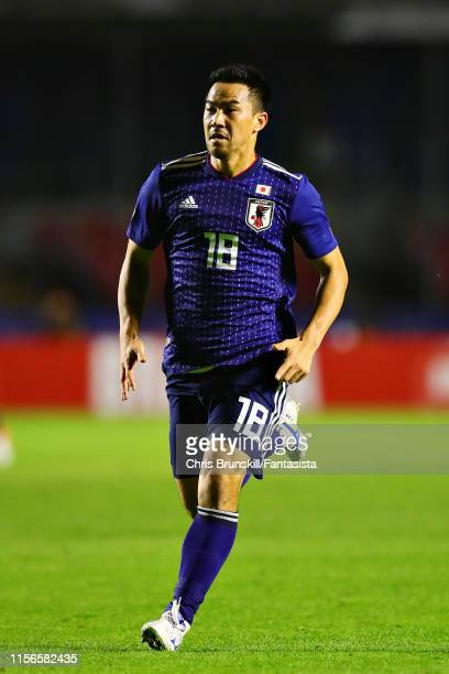 Shinji Okazaki of Japan in action during the Copa America Brazil 2019 group C match between Japan and Chile at Morumbi Stadium on June 17 2019 in Sao...