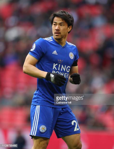Shinji Okazaki of Leicester City during the Premier League match between Tottenham Hotspur and Leicester City at Wembley Stadium on February 10 2019...