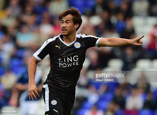 Shinji Okazaki of Leicester City during the PreSeason Friendly match between Birmingham City and Leicester City at St Andrews on August 1 2015 in...