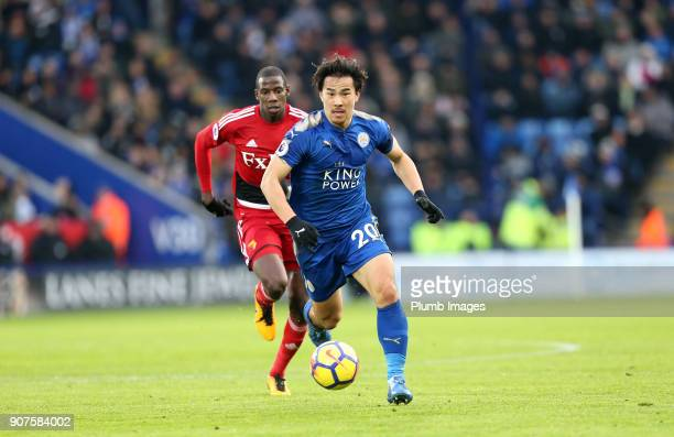 Shinji Okazaki of Leicester City in action during the Premier League match between Leicester City and Watford at King Power Stadium on January 20th...