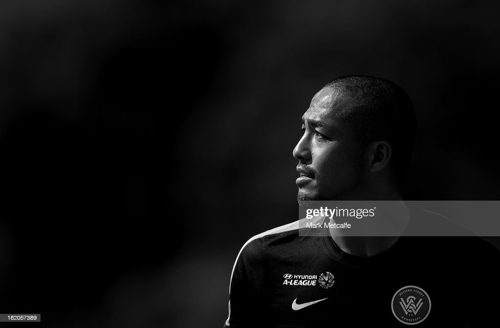 Shinji Ono looks on during a Western Wanderers A-League training session at Blacktown International Sportspark on February 19, 2013 in Sydney, Australia.