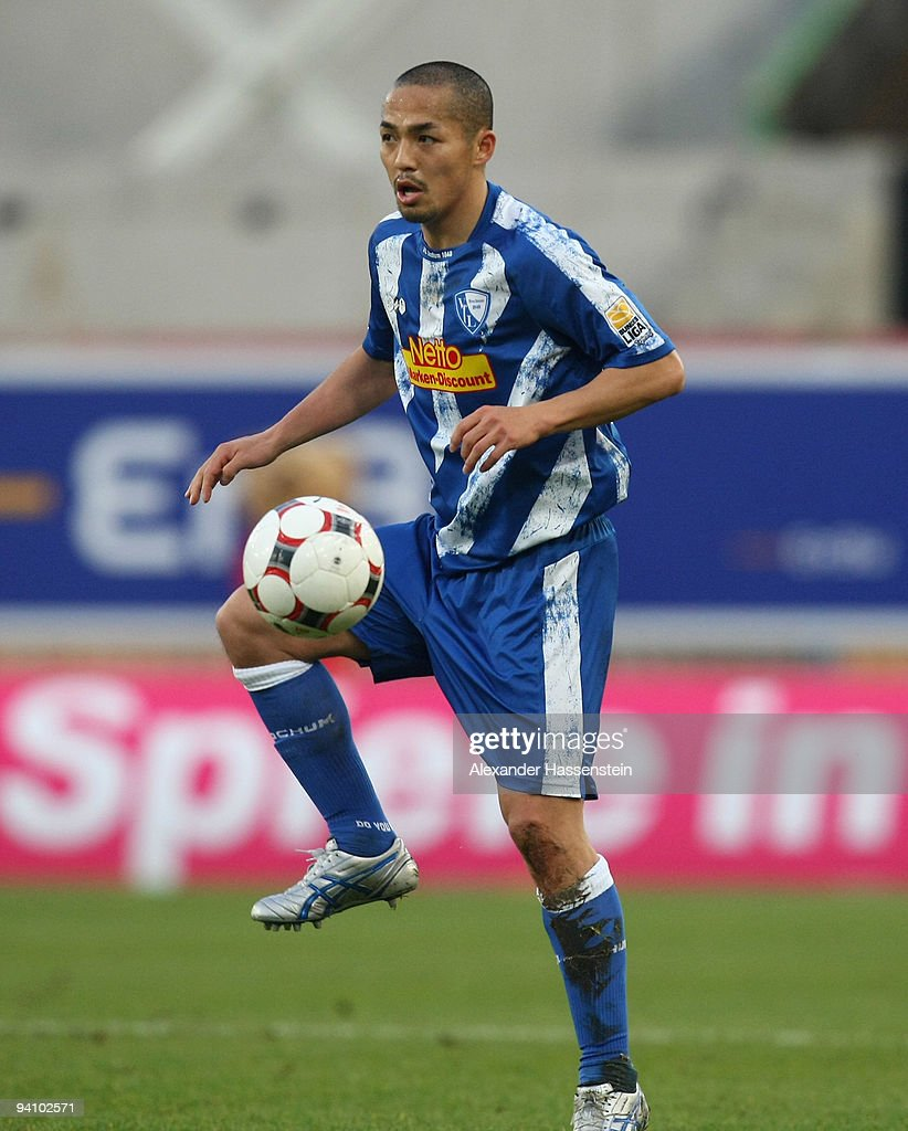 Shinji Ono of Bochum runs with the ball during the Bundesliga match between VfB Stuttgart and VfL Bochum at Mercedes-Benz Arena on December 5, 2009 in Stuttgart, Germany.