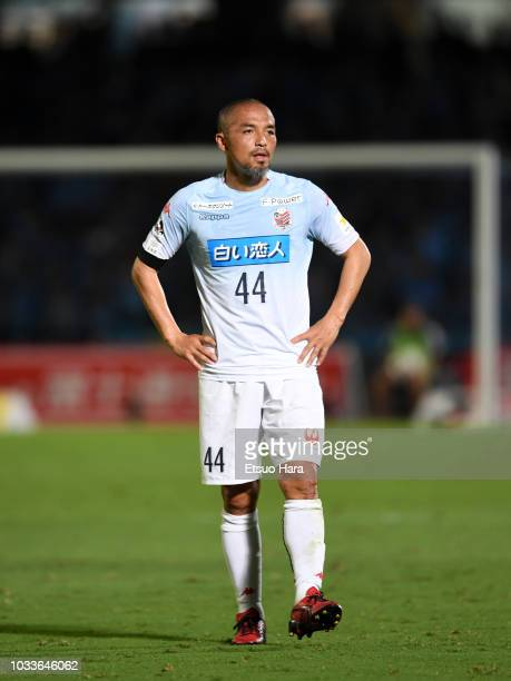 Shinji Ono of Consadole Sapporo looks on during the JLeague J1 match between Kawasaki Frontale and Consadole Sapporo at Todoroki Stadium on September...