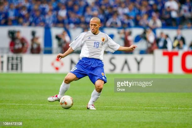 Shinji Ono of Japan during the World Cup match between Japan and Belgium in Saitama Stadium in Saitama Japan on June 4th 2002