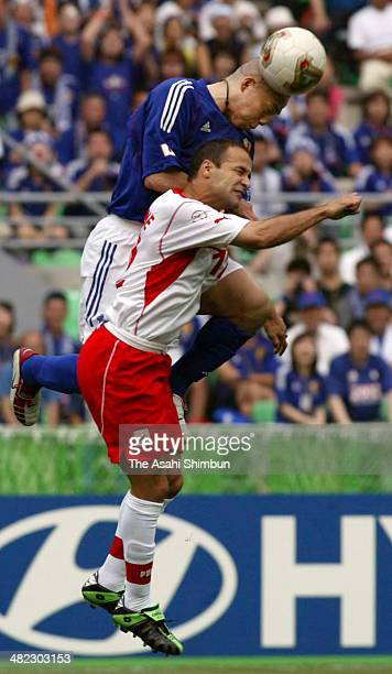 Shinji Ono of Japan in action during the FIFA World Cup Korea/Japan Group H match between Tunisia and Japan at Nagai Stadium on June 14 2002 in Osaka...