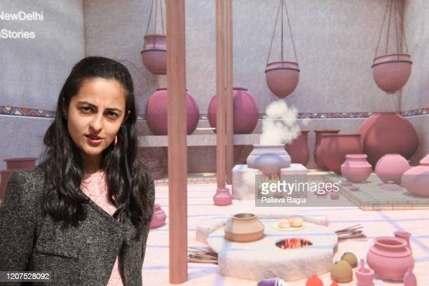 Shinjini Bhattacharya a conservation architect who researched the Indus Valley cuisine poses in front of an ancient kitchen on February 20 2020 in...