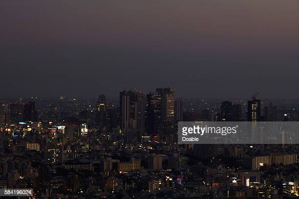 Shinjuku at Night, Seen From Ikebukuro
