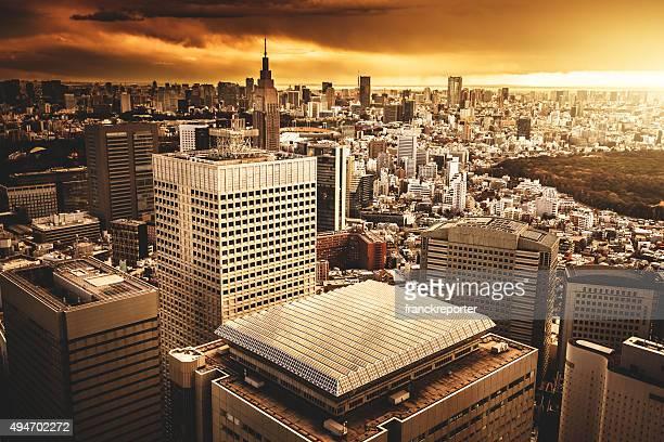 新宿ビジネス街、東京で日本