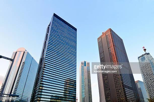 shinjuku skyscrapers - オフィスビル ストックフォトと画像