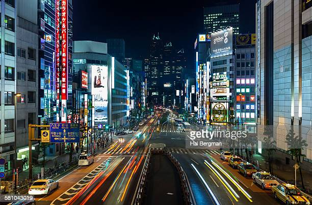 Shinjuku Traffic by Night