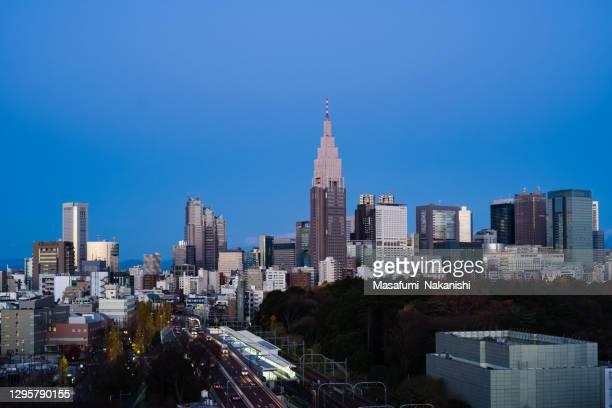 新宿区の夕暮れ都市 - 代々木 ストックフォトと画像
